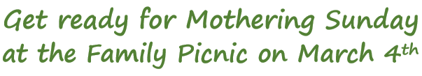 Mothering Sunday Family Picnic Advert